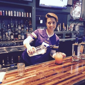 Megan working hard as our guest bartender at PPR's recent brunch fundraiser!